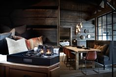 Why You Should Consider Buying a Log Cabin - Rustic Design Dark Interiors, Cabin Interiors, Chalet Interior, Interior Design, The Big Comfy Couch, How To Build A Log Cabin, Bohinj, Cabin In The Woods, Winter House