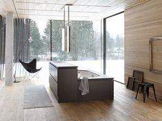 #bathroom #interior #wood #woodenfloor #white #light #home #snow #design #minimal