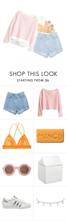 """this love is like fire and ice"" by goldvn-clovds ❤ liked on Polyvore featuring H&M, Monki, Wildfox, BIA Cordon Bleu and adidas"