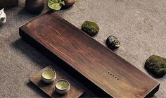 Bamboo tea tray displaying and serveing tea tea by Chinateaware
