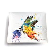 Dean Crouser Kaleidoscope Butterfly Stoneware Snack Plate