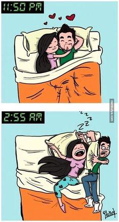 Nemkutya.com - Így alszunk a barátnőmmel az összeköltözés után