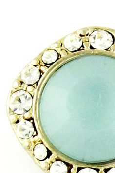 BCBG MaxAzria Aretes con diamantes y piedra turquesa, Andrea