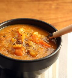 Pumpkin and potato soup, from The Perfect Pantry.