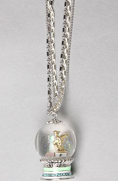 Disney Couture Jewelry The Icon Collection Tinkerbell Snow Globe Necklace