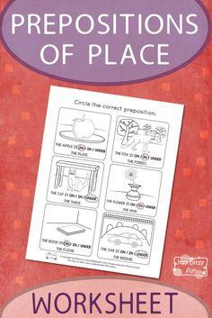 Printable Prepositions of Place Worksheet - Itsy Bitsy Fun Social Studies Worksheets, 1st Grade Worksheets, Kindergarten Worksheets, Worksheets For Kids, Preschool Curriculum, Homeschool, Printable Activities For Kids, Free Printable Worksheets, Writing Activities