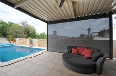 Create an outdoor room that you can enjoy all year round! Zipscreen outdoor blinds protect you from the elements with style. Outdoor Blinds, Outdoor Rooms, Outdoor Decor, Faux Wood Blinds, Bamboo Blinds, Budget Blinds, House Blinds, Shades Blinds, South Australia