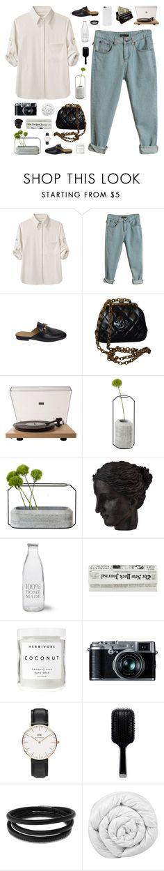 """Nami"" by daniaindria ❤ liked on Polyvore featuring rag & bone, Gucci, Chanel, Crosley Radio & Furniture, Spécimen Editions, Ren-Wil, Garden Trading, Herbivore, Retrò and Daniel Wellington"
