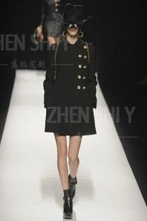 Proverbs poem elegant cashmere wool haute couture 2012 autumn and winter new lapel long section tailored black coat  $897