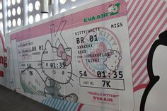 Taiwan to Los Angeles - Hello Kitty x EVA Air jet