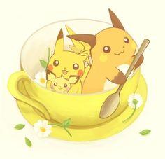 Pichu, pikachu, and raichu Pokemon Go, Type Pokemon, Pokemon Fan Art, Pichu Pikachu Raichu, Cute Pikachu, Chibi, Pokemon Pictures, Anime Kawaii, Manga
