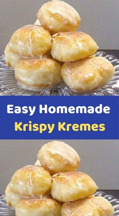Easy Homemade Krispy Kremes    Ingredients    3 tablespoons milk  3 tablespoons boiling water  1 teaspoon dry active yeast  8 ounces all-purpose flour ( a little under 2 cups, I recommend you measure and weigh)  1 1/2 ounces sugar (about 3 tablespoons)  1 egg  1