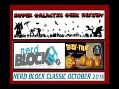Nerd Block Classic October 2015