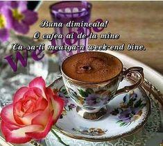 Bună dimineata dragilor, wekeend minunat vă doresc si o cafea cu drag vă asteaptă. - Rosana Leite de Souza - Google+ Tea Cups, Tableware, Fingerstyle Guitar, Google, Gifs, Funny, Pray, Cards, Dinnerware