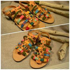 """Handmade bohemian sandals from Bohoho. """"Alstroemeria"""" collection https://m.facebook.com/Bohoho-986072051471885/ #bohemian #boho #sandals #fashion #greek #ethnic #handmade #summer"""