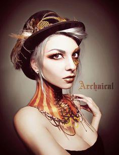 Tightlaced by Archaical.deviantart.com on @deviantART (steampunk makeup)
