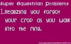 Super Equestrian Problems : 7 of 7
