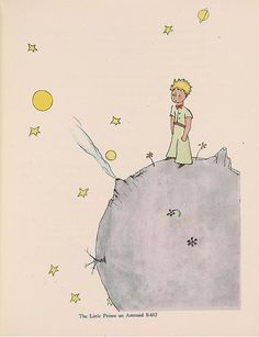 "See Original Artwork For ""The Little Prince"" In All Its Ragged Glory. Le Petit Prince! J'adore!"