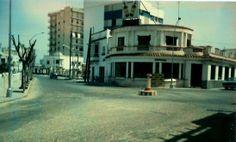 Traffic circle near the beach (San Fernando @ Avenida de Sevilla) in Rota Spain, circa 1968.  Appeared much the same when I lived down Avenida de Sevilla in 1974.  Not my pic, but it is my memory.