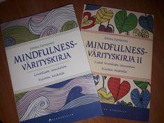 Värityskuvilla mindfullnessia + merenneito Mindfulness, Cover, Books, Libros, Book, Book Illustrations, Consciousness, Libri
