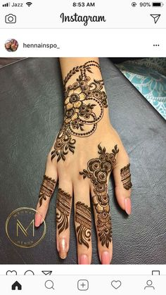 This is very simple and easy mehndi design for left palm hand - JEWELRY - jewelry - Hand Henna Designs Khafif Mehndi Design, Mehndi Designs Book, Mehndi Design Pictures, Mehndi Designs For Girls, Mehndi Designs For Beginners, Wedding Mehndi Designs, Henna Tattoo Designs, Mehandi Designs, Modern Henna Designs
