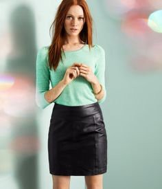 Leather skirt. Product Detail | H US