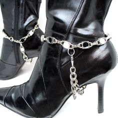 Black+&+White+Polka+Dot+BOOT+CHAINS+Boot+Jewelry+by+Greenbelts,+$45.00