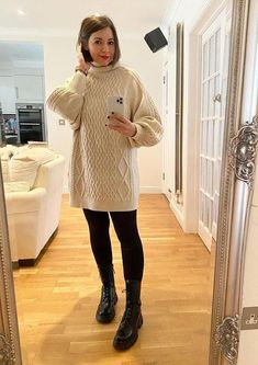 Nikki in a turtleneck sweater dress | 40plusstyle.com Animal Print Vests, Animal Print Dresses, Turtleneck Outfit, Black Turtleneck, Kate Spade New York, How To Wear Leggings, Monochrome Outfit, Long Vests, Polo Neck