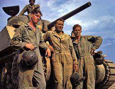 Us tank crew members, 1942. #vintage #1940s #WW2 #military