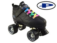 Pacer Mach-5 GTX500 Quad Speed Roller Skates with Rainbow Laces in Women   eBay