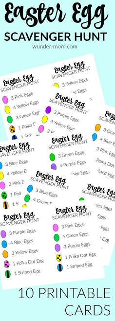 easter egg scavenger hunt - the kids are having a blast with these printable easter egg scavenger hunt cards!  Super fun Easter kids Activity   Easter activity | kids activity | preschool | pre-k | kindergarten | elementary school | Holidays | Sprint time