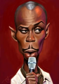 Dave Chapelle by Satsu the block party got him on the list he is hip hop Cartoon Faces, Funny Faces, Cartoon Art, Funny Caricatures, Celebrity Caricatures, Celebrity Drawings, Silvester Stallone, Black Art Pictures, Black Picture
