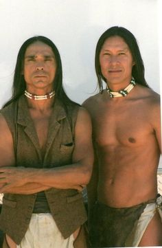 Zahn McClarnon and Rick Mora - native-american-actors-singers-etc . Native American men have a aura about them,like no other man! Proud, Noble, Strong & Beautiful.