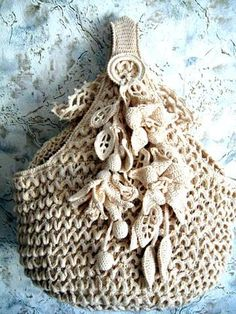 Pretty crocheted tote bag from Martha Juliane
