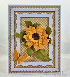 Kittie Caracciolo created this beautiful card featuring the Garden Notes… Scrapbook Supplies, Scrapbook Cards, Sunflower Cards, Elizabeth Craft Designs, Die Cut Cards, Get Well Cards, Halloween Cards, Design Crafts, Paper Flowers