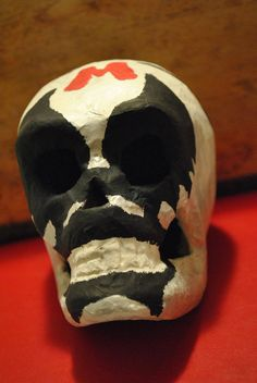 Lucha Libre Stylized Day of the Dead Skull