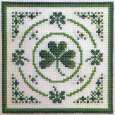 Textile Heritage Circle of Shamrocks Cross Stitch Kit Irish St Patrick's Day in Crafts, Needlecrafts & Yarn, Cross Stitch & Hardanger | eBay
