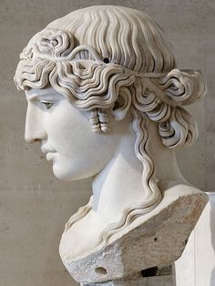 Bust of Antinous, favorite of the emperor Hadrian, in the Louvre