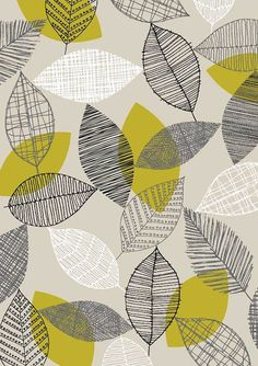 Scattered Leaves, limited edition giclee print by Eloise Renouf Graphic Patterns, Textile Patterns, Print Patterns, Surface Pattern Design, Pattern Art, Pattern Drawing, Patterns In Nature, Nature Pattern, Motif Floral