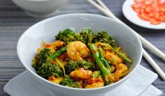 ® Coconut and Prawn salad #recipe #salad: 200g Tenderstem broccoli ...