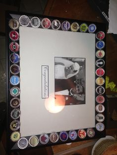 Beer tasting birthday party autograph frame