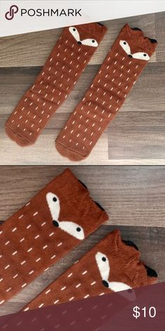 Host Pick3D Cartoon Fox Socks Cartoon #foxsocks perfect for #boy or #girl! NWOT. Size is 0-3T. They fit really well at any age--my daughter has been wearing them since around 6 months and is now almost 3 years. Accessories Socks & Tights