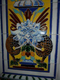 Azulejos de la Casa Palacio Aramburu, Cádiz. | Edificio situado en la plaza de San Antonio ,en la ciudad de Cádiz.