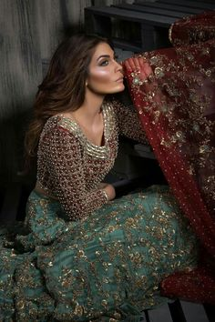 Mahgul , model aman babar Pakistan bridal Dress #beautiful #pakistani #desi…