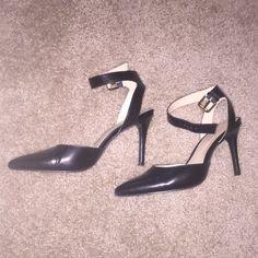 Nine West pumps Black heels with ankle strap. Worn a handful of times Nine West Shoes Heels