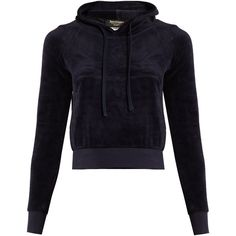 Vetements X Juicy Couture hooded velour sweatshirt ($880) ❤ liked on Polyvore featuring tops, hoodies, navy, goth tops, navy blue hoodies, velour tops, velour hoodies and gothic tops