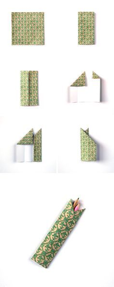 HOW TO MAKE DIY ORIGAMI PENCIL HOLDERS