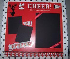 Cheerleader Spirit 12 x 12 Premade One Page by 1OfAKindCrafts