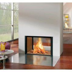 De #Spartherm Arte X-FDh is een doorkijk inbouwhaard en behoort tot de serie Linear houtkachels. Met deze doorkijkhaard kan het vuur vanuit twee verschillende ruimtes worden aanschouwd. Het keramisch glas van de Spartherm Arte X-FDh is aan 3 zijden bedrukt. #Fireplace #Fireplaces #Kampen #Houtkachel #Houthaard #Interieur