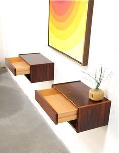 Drool: Danish modern floating nightstands